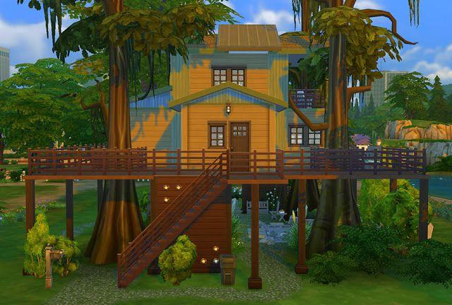 Urban Treehouse Sims House Tree House Sims 4 Houses