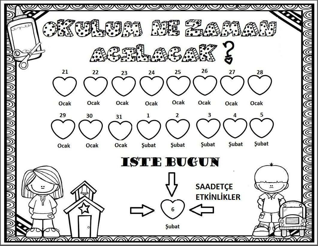 Yariyil Tatili Ilk Gun Preschool Preschool Activities Ve School