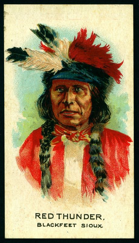 Cigarette Card - Indian Chief, Red Thunder