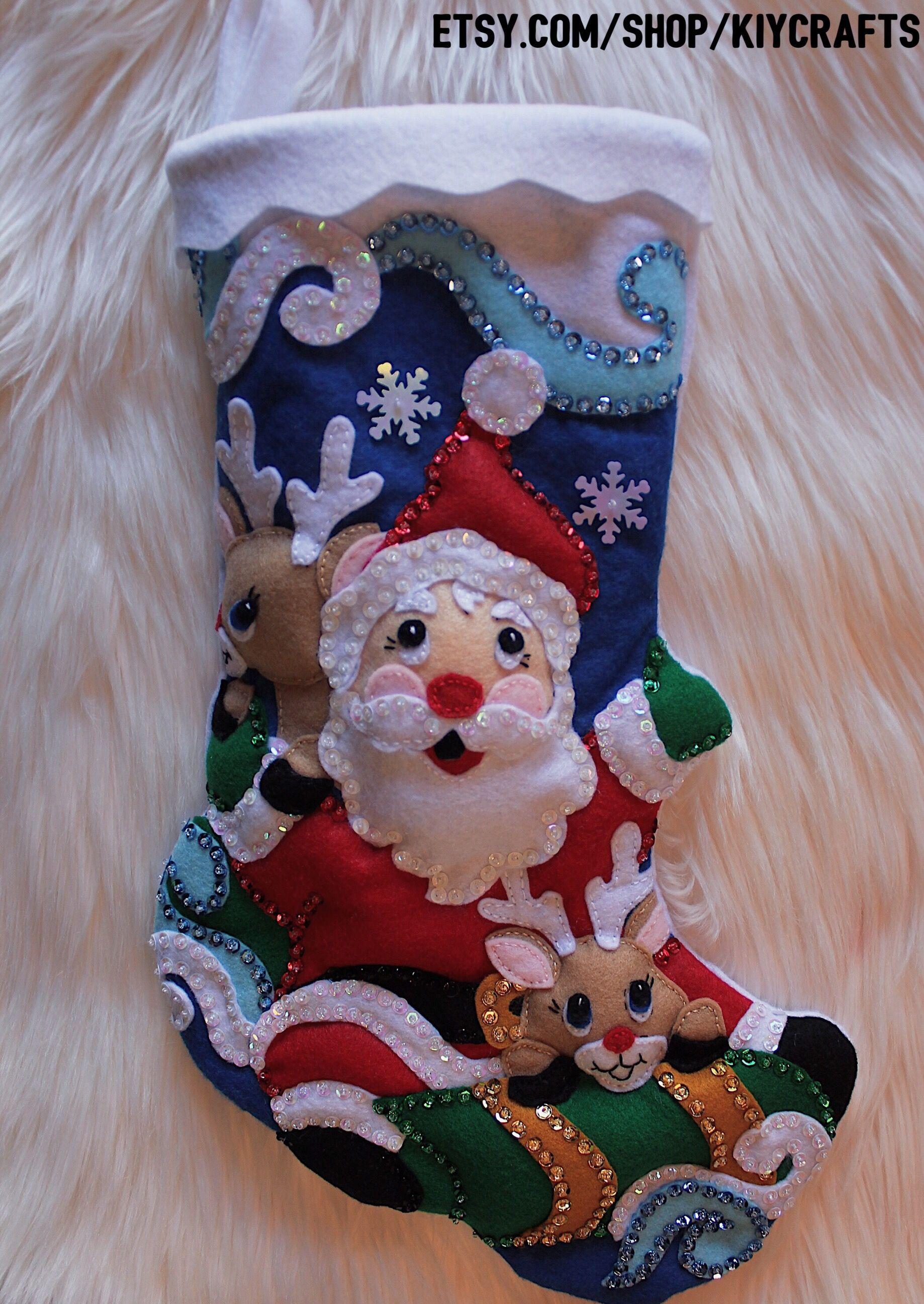 Classic Sequin Santa Claus Stocking Unique items