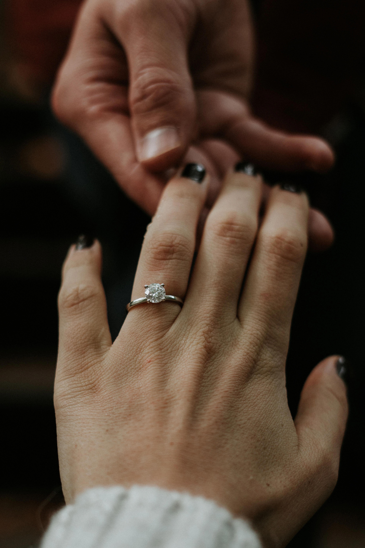 14k Gold Black Diamond Engagement Ring / Unique Sunflower