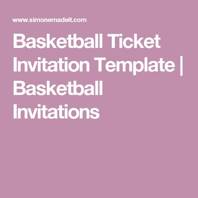 Basketball Ticket Invitation Template  BlackOrange  Basketball