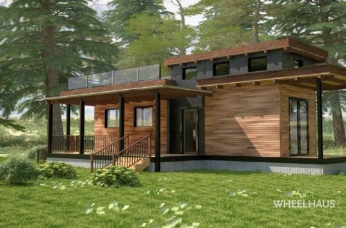 Wheelhaus builds the next generation of modular prefab for Piani di casa in stile ranch con due master suite