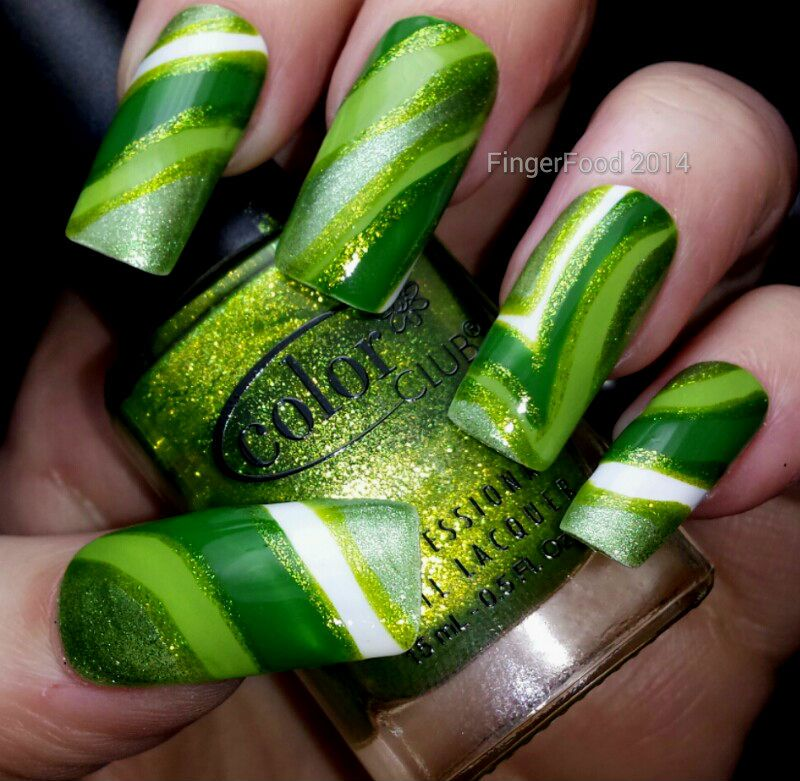 Fingerfood got polish challenge green nail art pinterest 18 cool green nail art ideas in different shades hey beautiful ladies today we have for you collection of 18 amazing nail designs created with green nail prinsesfo Gallery
