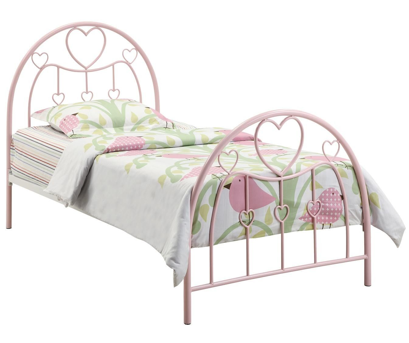 Coaster Juliette Twin Metal Bed With Pink Heart Motifs 400571t Coaster Juliette Twin Metal Bed With Pink Heart Motifs 400571tnothing Bed Metal Beds Iron Bed