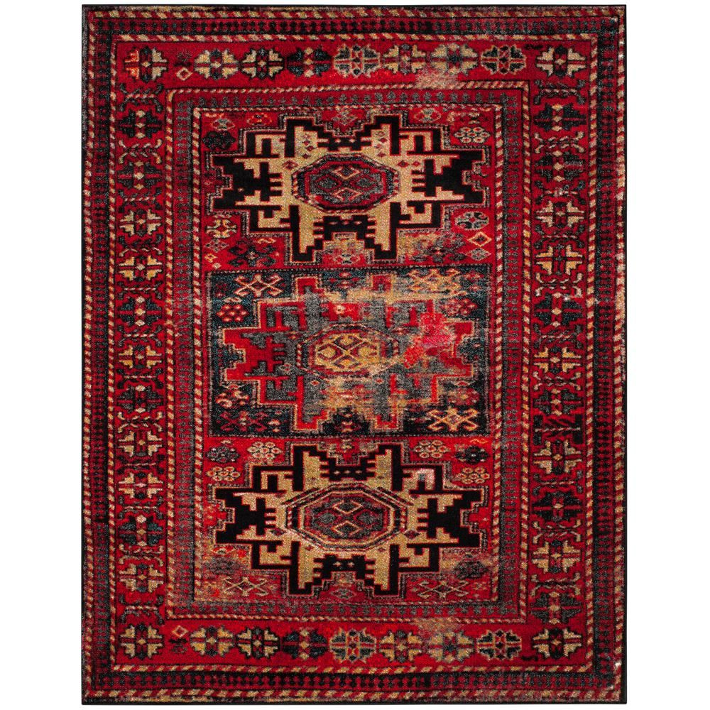 Safavieh Vintage Hamadan Red Multi 8 Ft X 10 Ft Area Rug Area Rugs Rugs Colorful Rugs