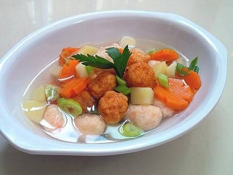Resep Sup Bola Bola Udang Kesukaan My Kiddos Step By Step Oleh Tintin Rayner Resep Resep Sup Resep Masakan Asia Makanan Rumahan