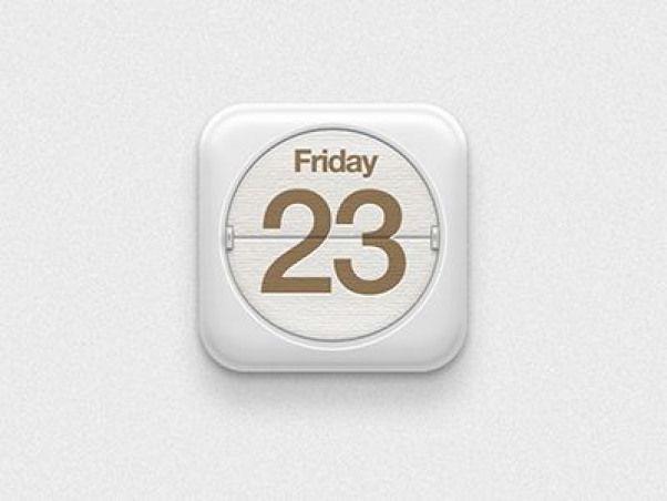 Dribbble Calendar by yuchen liu appicon app icon
