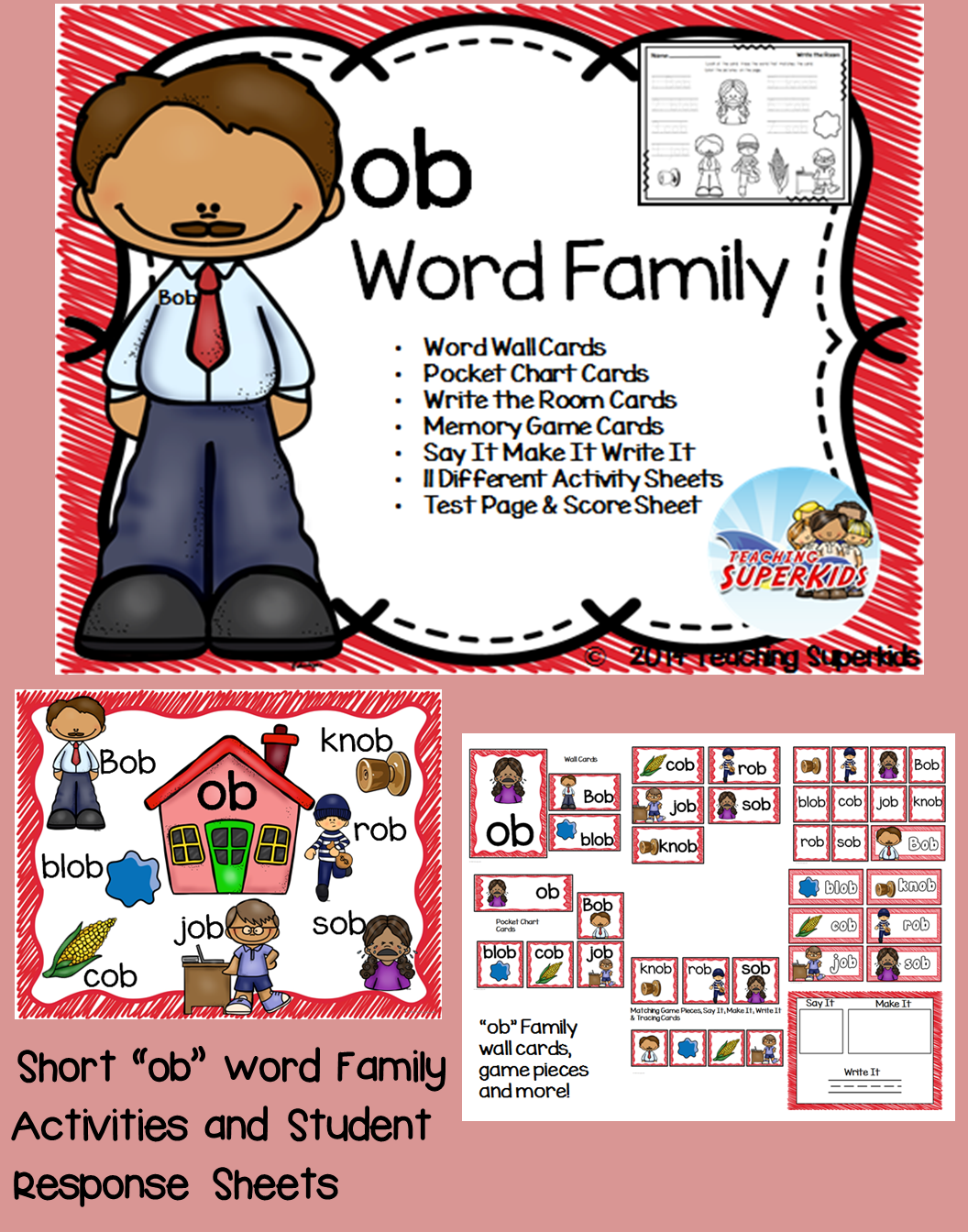 Ob Word Family Centers