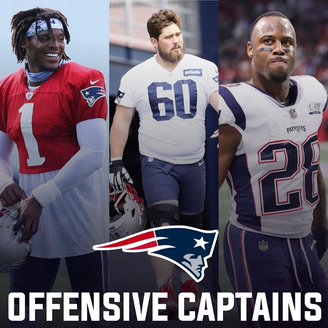 Cam Newton David Andrews And James White Have Been Named The Offensive Captains For This Season Congrats To Them In 2020 James White New England Patriots Captain