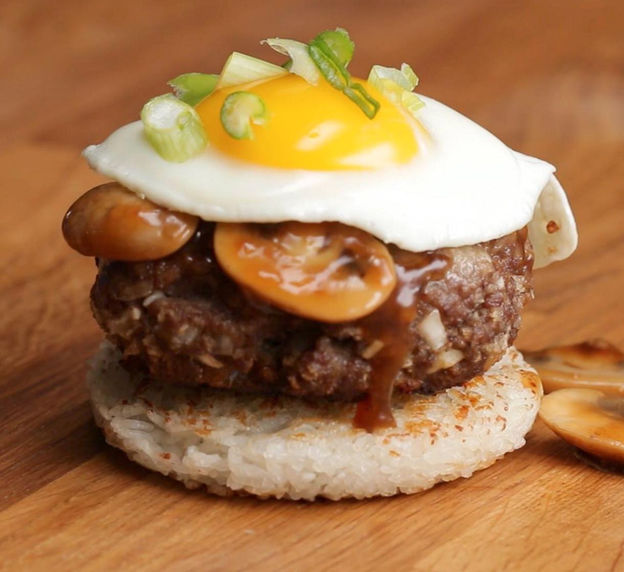 Tasty | Loco Moco Rice Burger