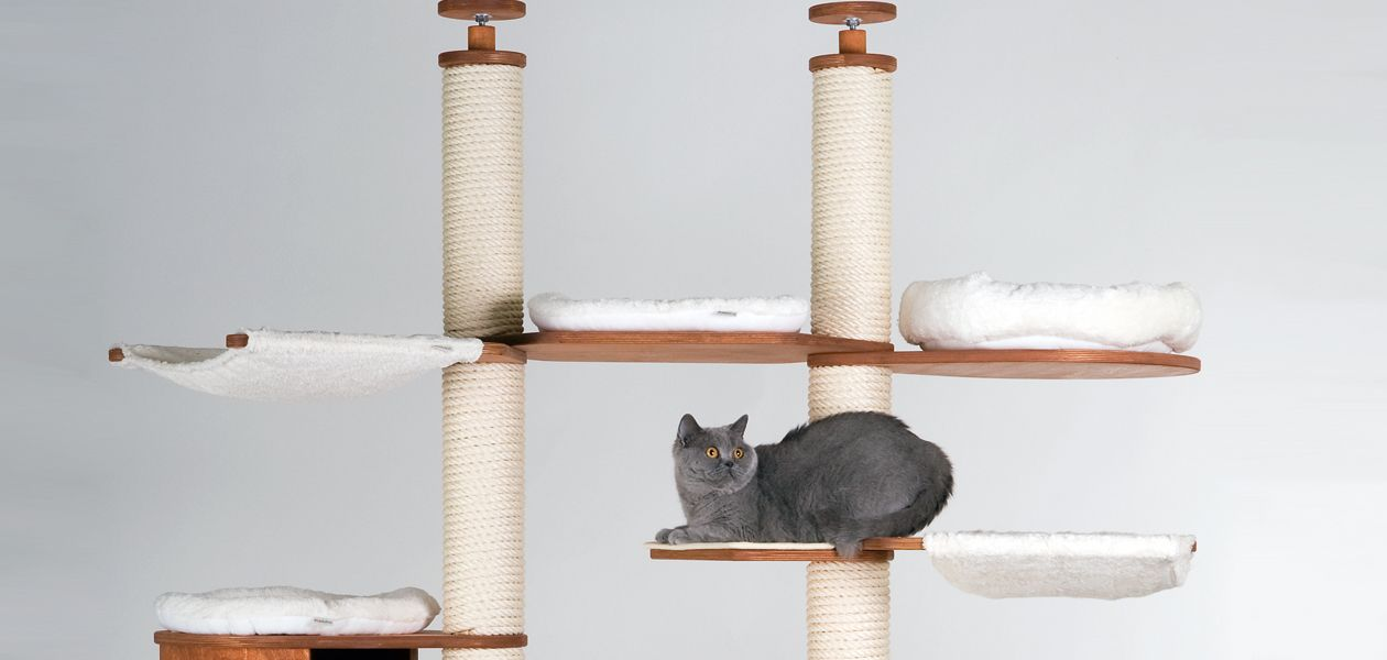 Ceiling Height Cat Trees Are Extremely Stylish Cat Trees Of A