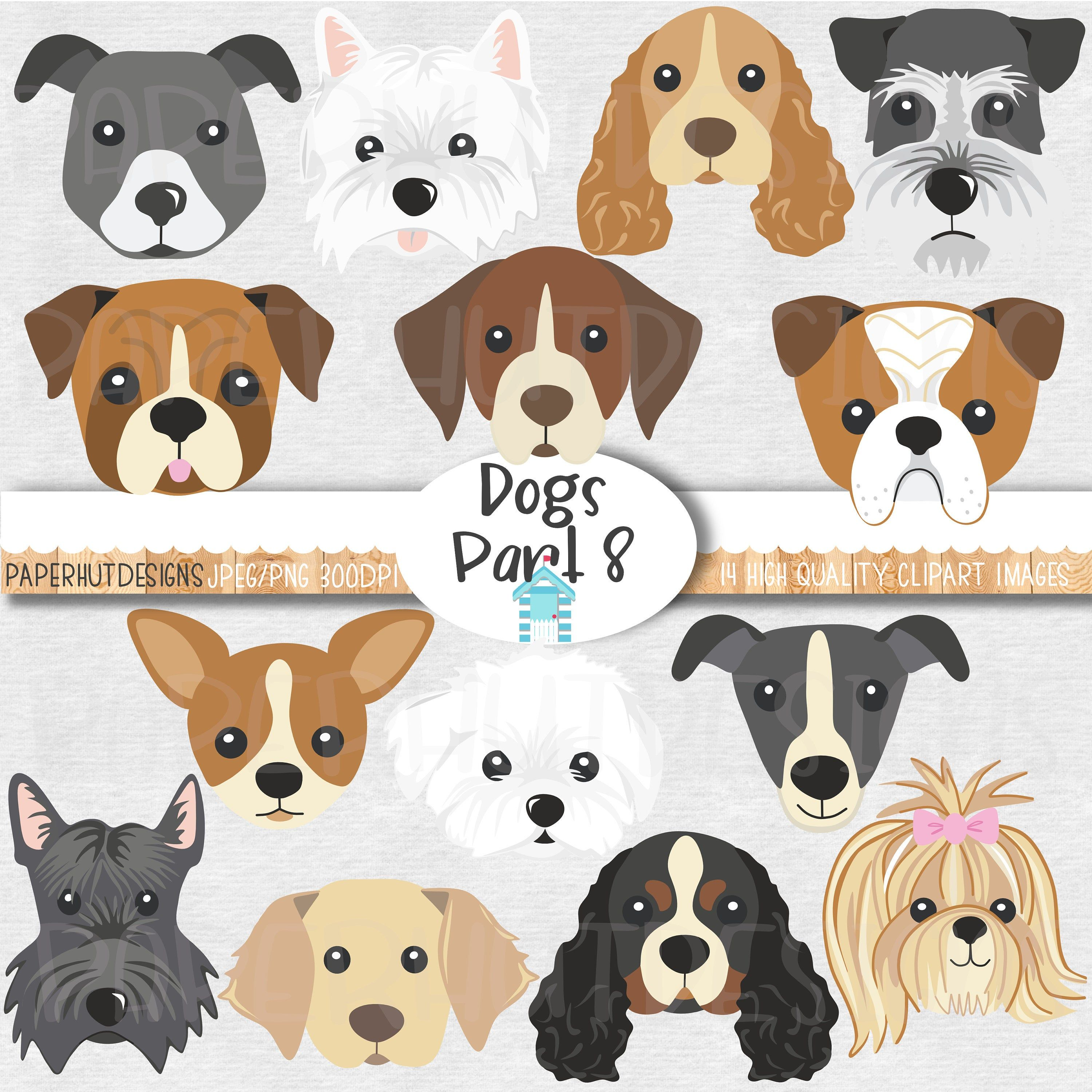 Dog Faces Clipart Cute Puppy Faces Clipart Dog Clip Art Puppy Etsy Dog Clip Art Clip Art Puppy Clipart