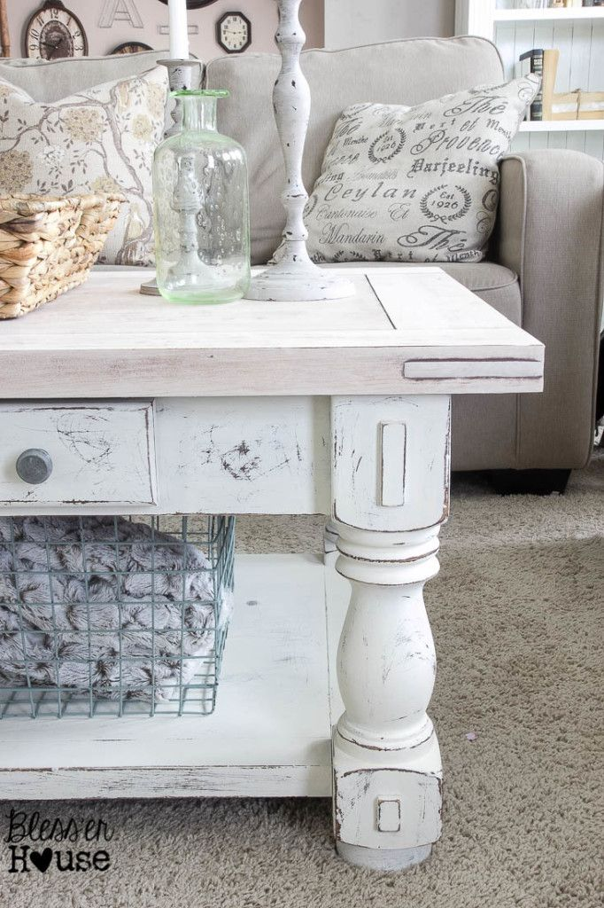 Chippy White Lime Finished Coffee Table Bless Er House Love The Lime Waxed Natural Top With Images Shabby Chic Coffee Table Chic Coffee Table Decorating Coffee Tables