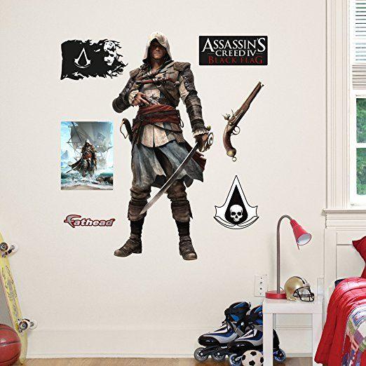 Fathead Junior Wall Decal Quot Assassin S Creed 4 Edward Quot Assassins Creed Assassins Creed 4 Creed