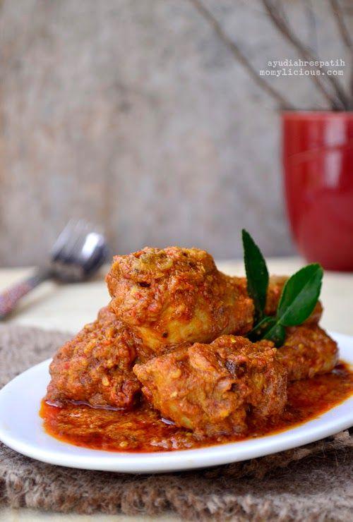 Rendang Ayam Resep Ayam Resep Masakan Asia Resep