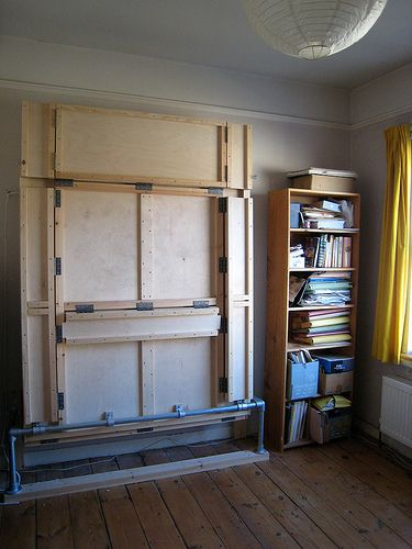 The Wallbed In Its Folded Up Position Murphy Bed Bed