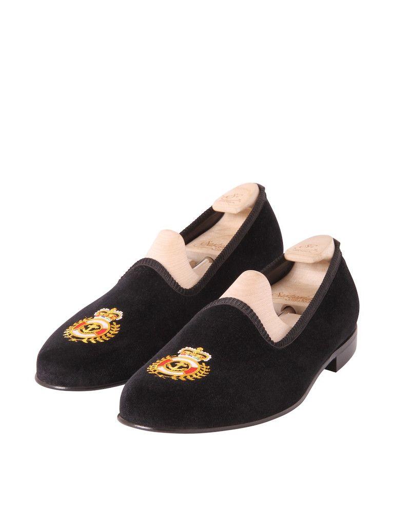 Madison Navy Emblem Black Velvet - £285.00