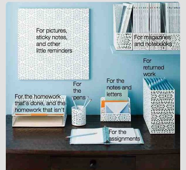 Home Office Desk:organized. Maybe Put Hanging Stuff On A Side Wall So That  The Desk Can Face The Students. Home Design Ideas