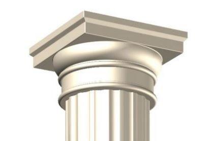 Chapiteau dorique 38,5 x 20,5 cm, pour colonne cannelée Ø 28 cm. | Dorique, Béton préfabriqué ...