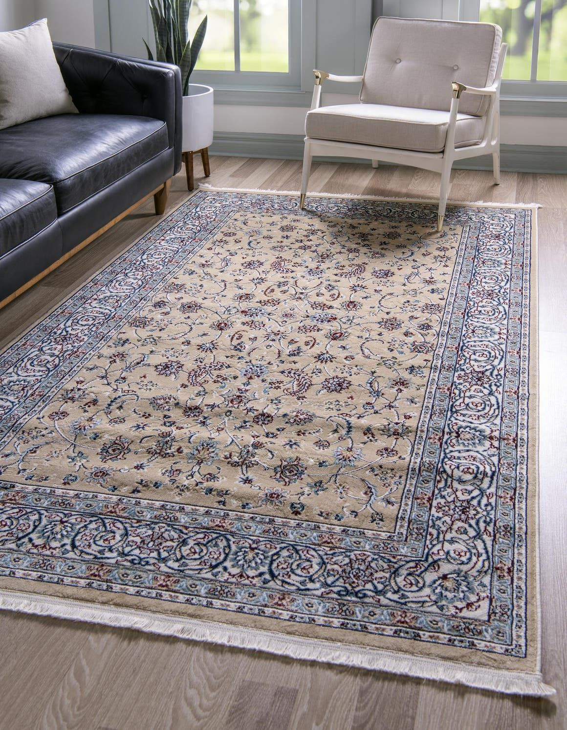 Beige Nain Design Area Rug In 2020