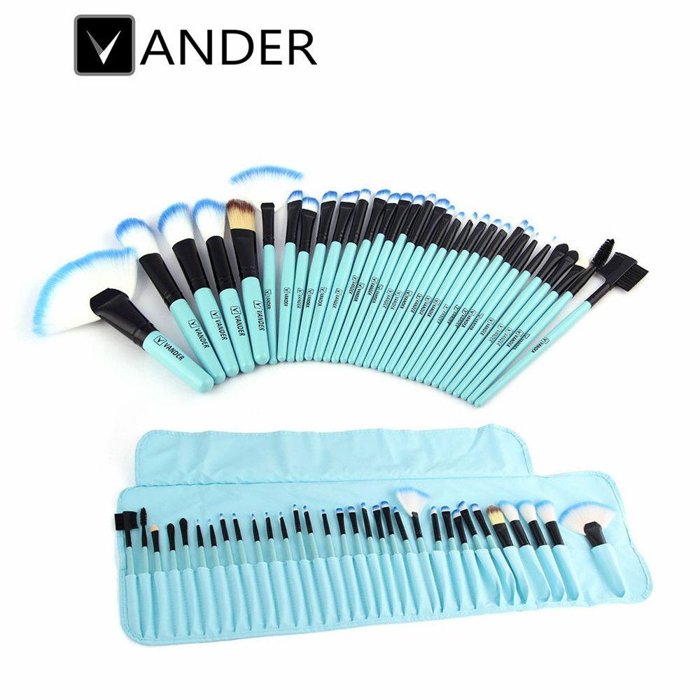 32 Unid Pro de Cepillo Del Maquillaje Sintético Pinceles Maquillaje Profesional Fundación Powder Blush Delineador de ojos Pinceles maquillaje Pinsel Set bolsa