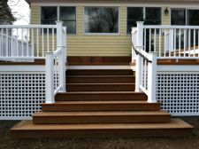 St Louis Decks Getting The Look You Want With Skirting Deck Skirting Deck Staircase Lattice Deck