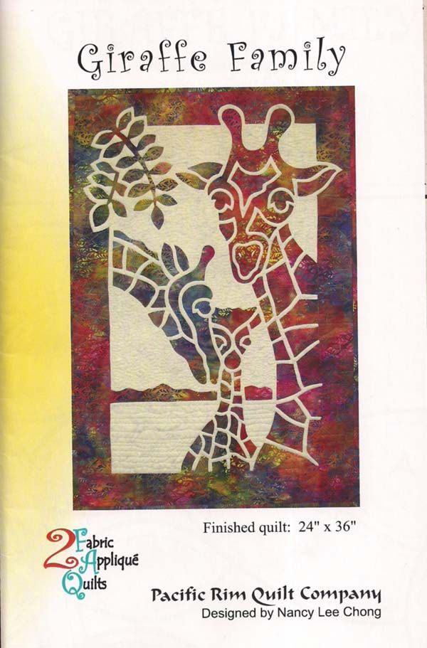 Giraffe Family pattern by Pacific Rim Quilt Company by HorsefeathersFabric on Etsy