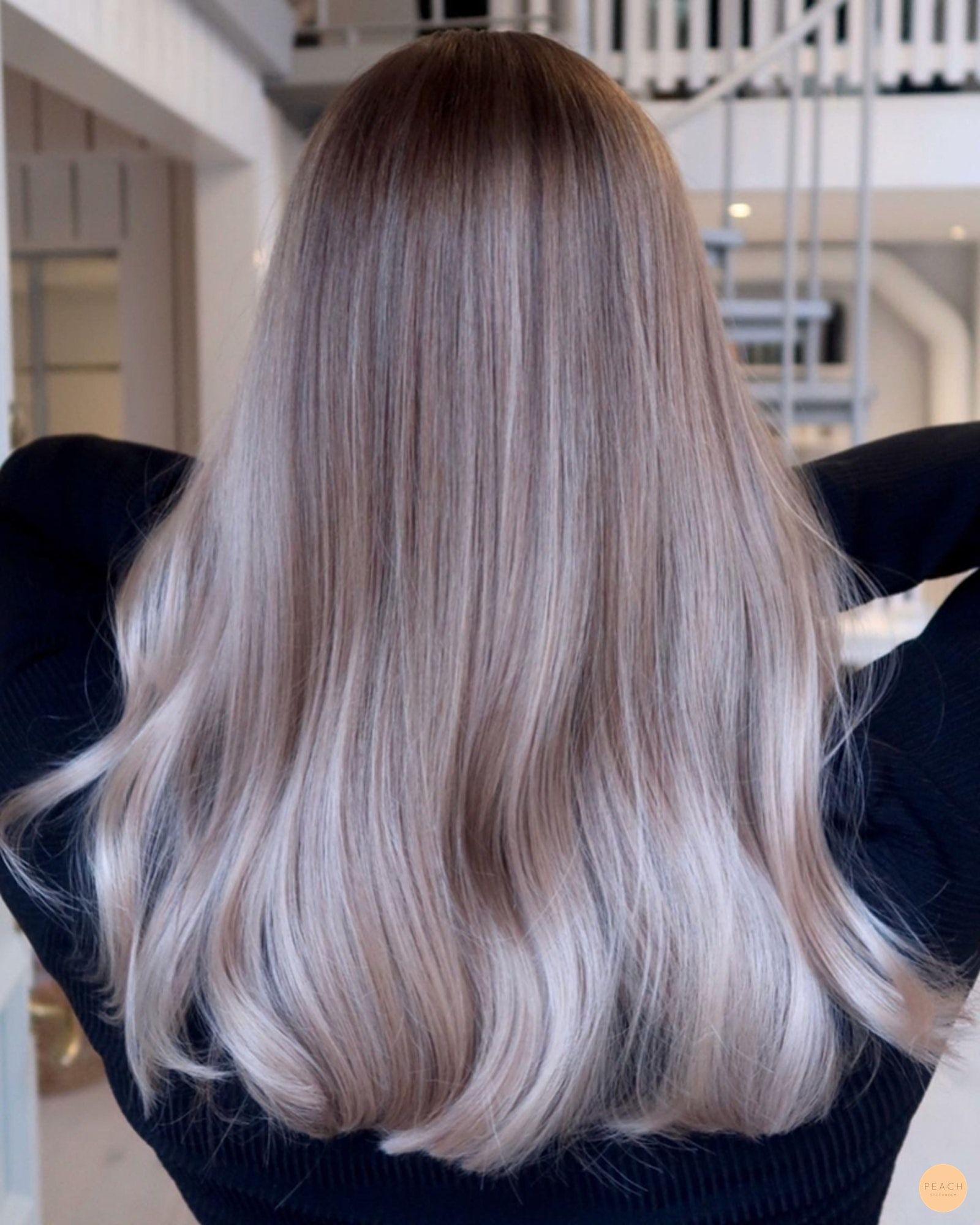 blond med bruna slingor