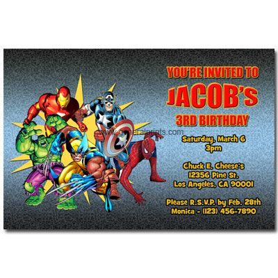 birthday invitation templates printable free super hero