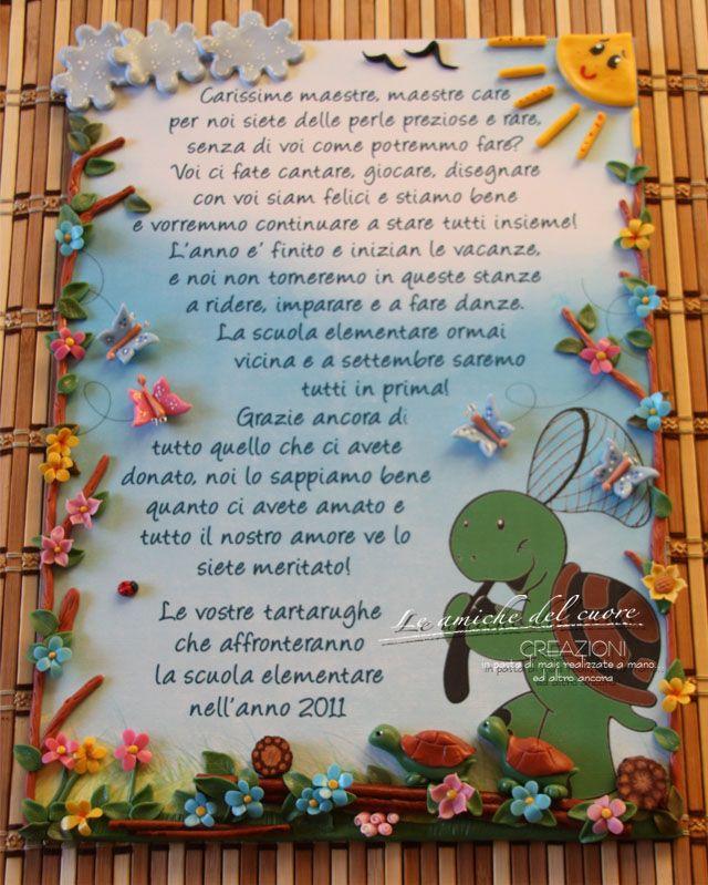 Regalo maestre pannello tartaruga lavoretti scuola for Siti per maestre scuola infanzia