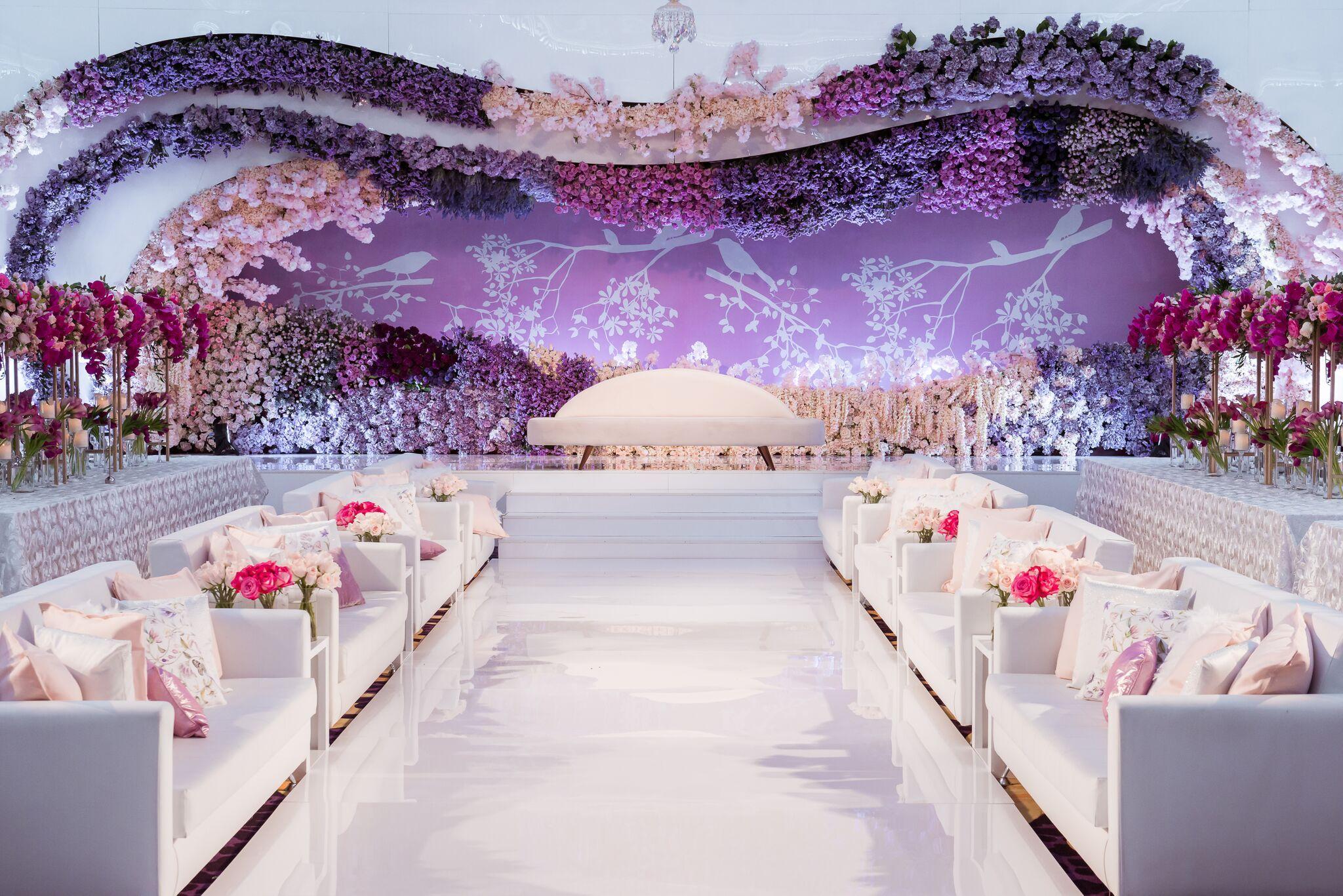 Stage Set Up For A Wedding Ceremony Palazzoversacedubai Inspiringluxury Event Wedding Banquet Versace Versace Home Palazzo Versace Wedding Decorations