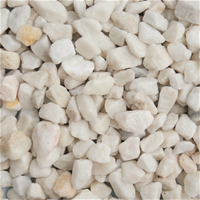 Polar White 10mm White Decorative Stones Stone Decor White Gravel