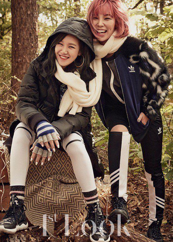 Unpretty Rapstar 2 Contestants Wander A Hiking Trail For 1st Look Pictorial Korea Fashion Fashion Magazine Fashion