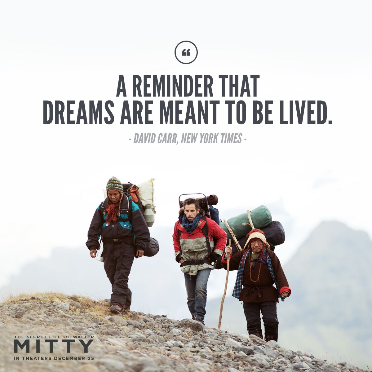 Be Inspired This Holiday Season The Secret Life Of Walter Mitty
