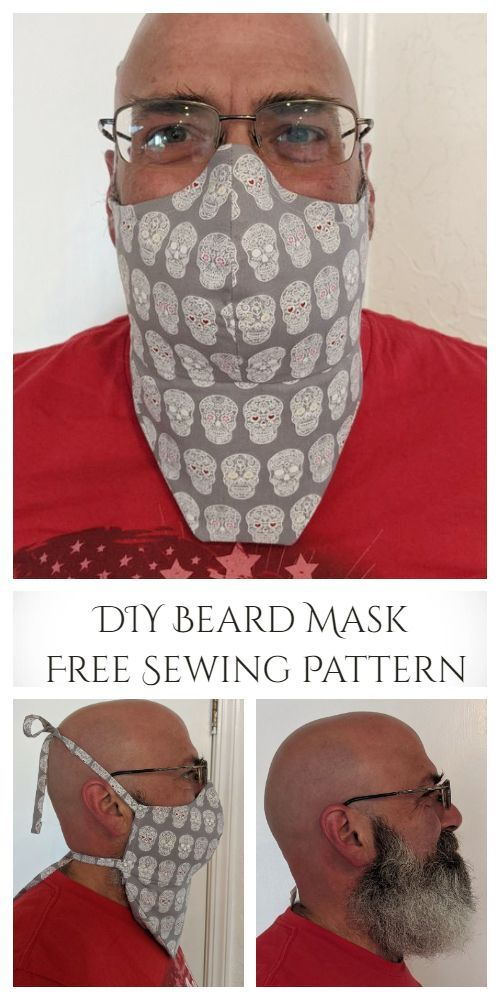 Photo of DIY Beard Face Mask Free Sewing Pattern | Fabric Art DIY