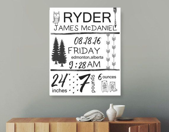 Monochrome birth stats birth details monochrome nursery monochrome birth stats birth details monochrome nursery personalized nursery nursery baby gift boys room baby shower black and white negle Image collections