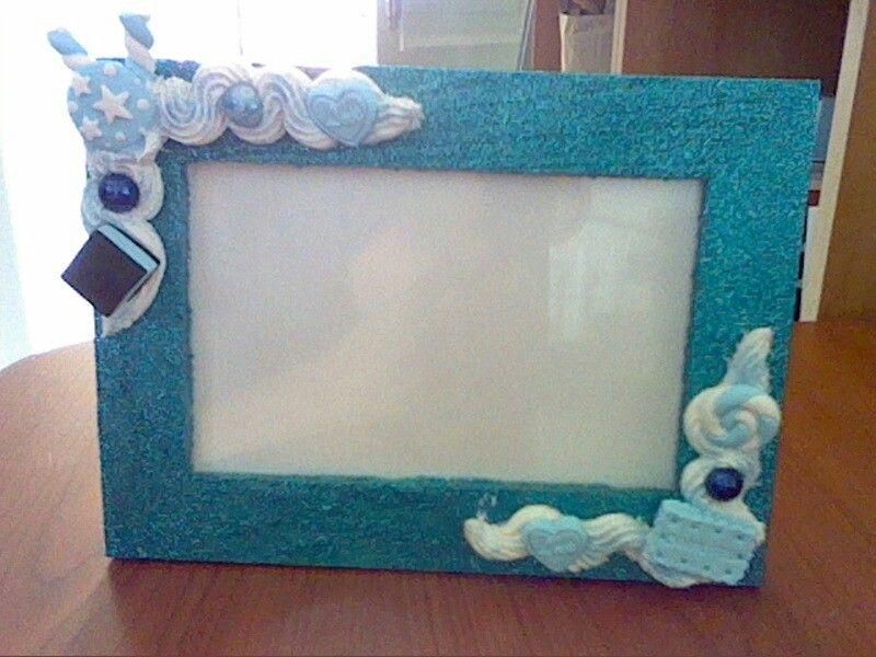 Cornici bambini ~ Cornice decorata con silicone e fimo mie creazioni fimo pinterest