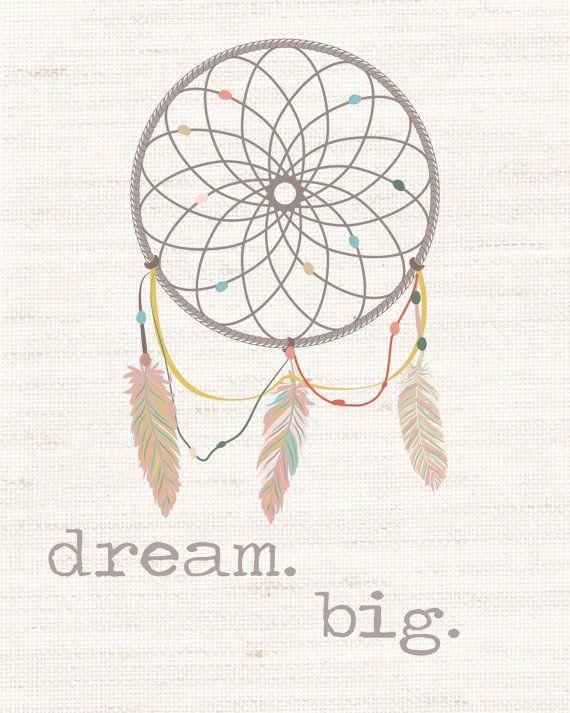 Dream Big Dream Catcher Nursery Printable by amira143 on Etsy, $5.99
