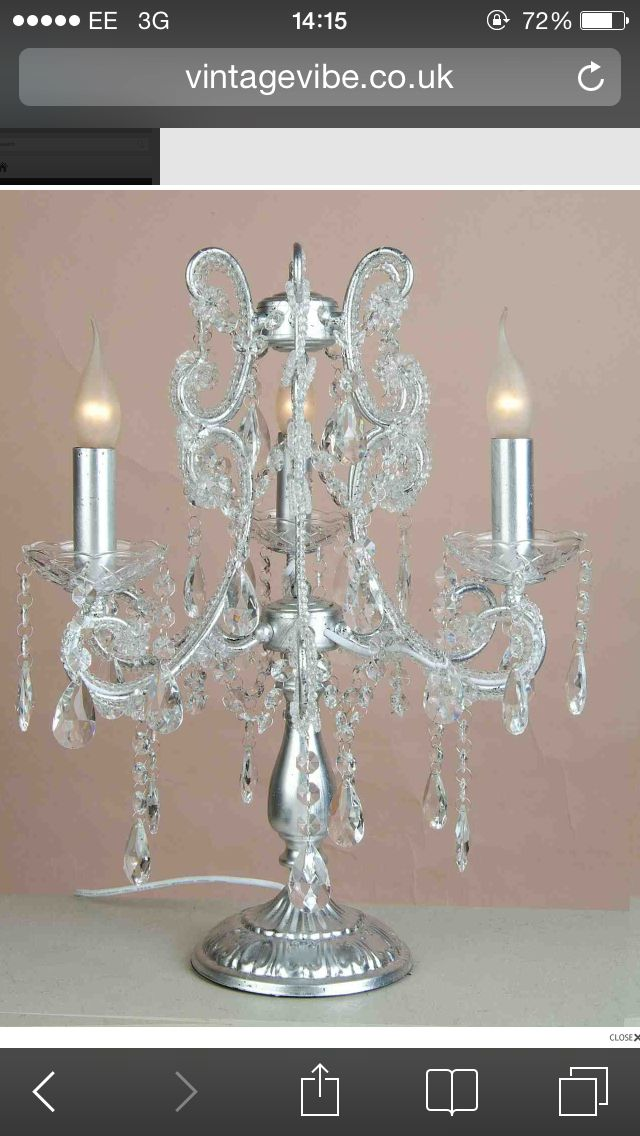 I Need Two Of These Vintage Vibe Bedside Table Chandelier Lamps