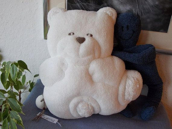 soft pillow bear   baby pillow bear stuffed by MadeByMiculinko, $40.00
