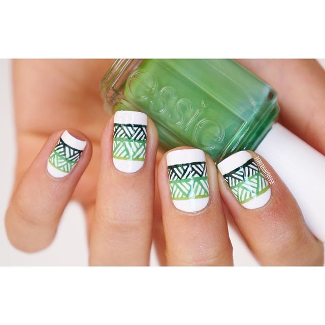 nail art by @peppermintpolish via ink361.com | Nails | Pinterest | Cosas