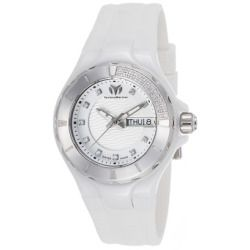 Women's Diamond Cruise White Silicone White Dial White Ceramic