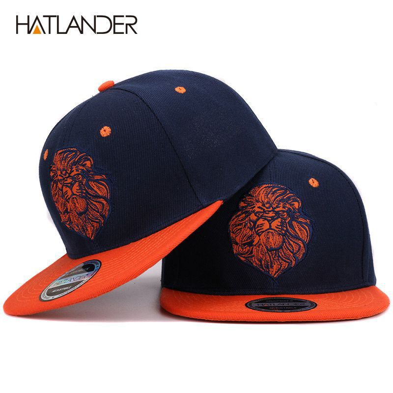 923c68a13d0 ... Informações sobre Alta qualidade cara do leão bordado boné snapback rei  legal hip hop chapéu para meninos e meninas