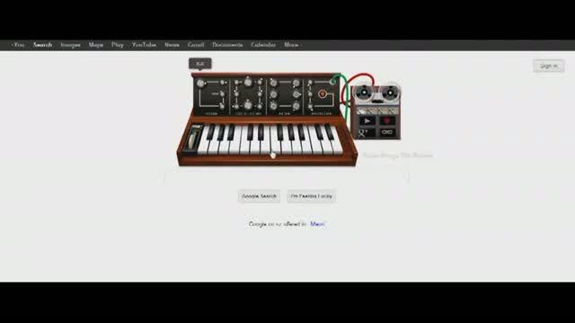 Google Doodle Robert Moog 78th birthday