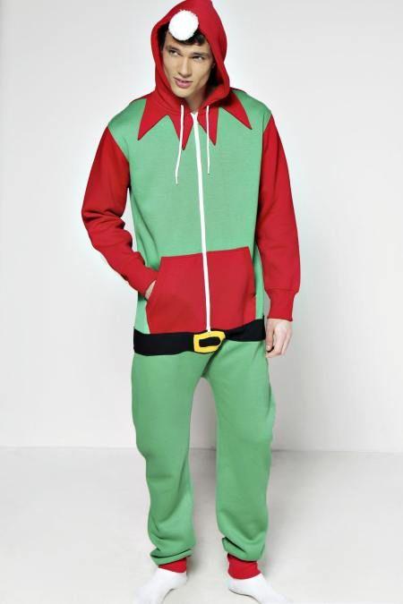 8cc14516c0 Mens Adult  Elf  Christmas  Onesie