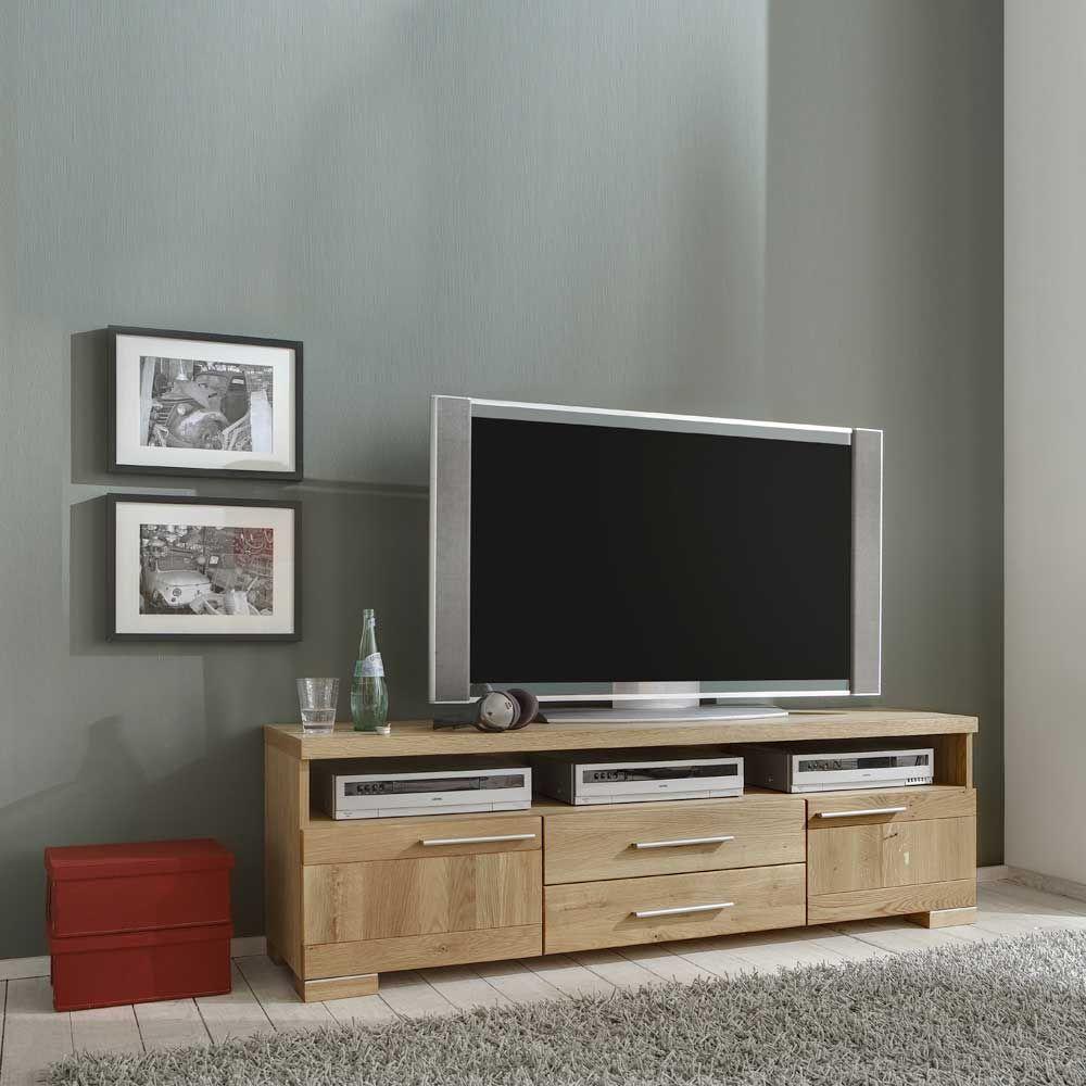TV Board aus Eiche Massivholz Jetzt bestellen unter: https://moebel ...