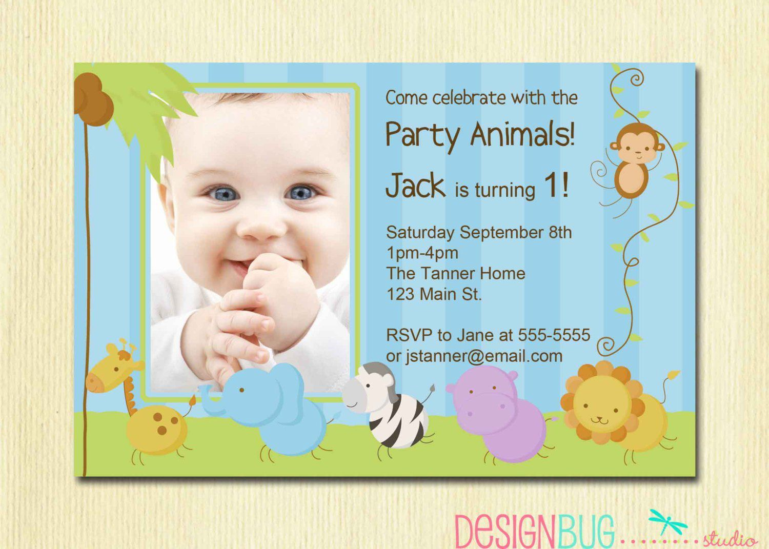 baby boy baptism invitation wording – 1st Birthday and Baptism Invitations