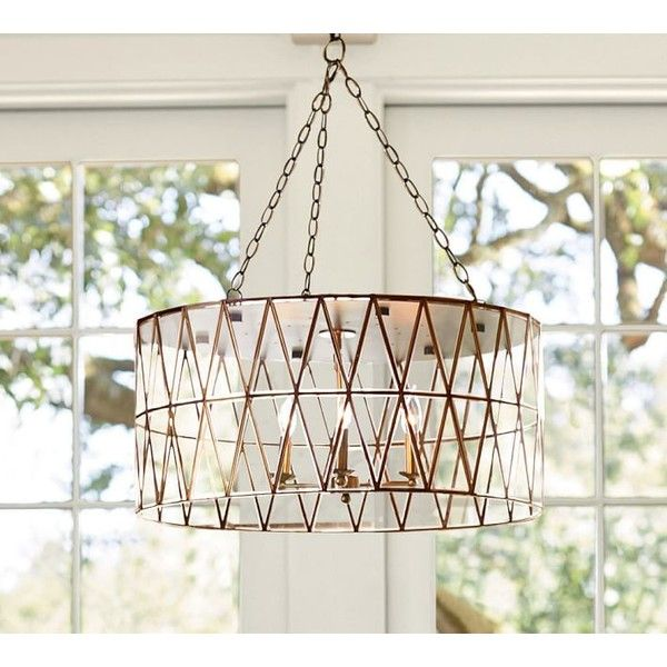 pottery barn grace faceted pendant ($899) ❤ liked on polyvore