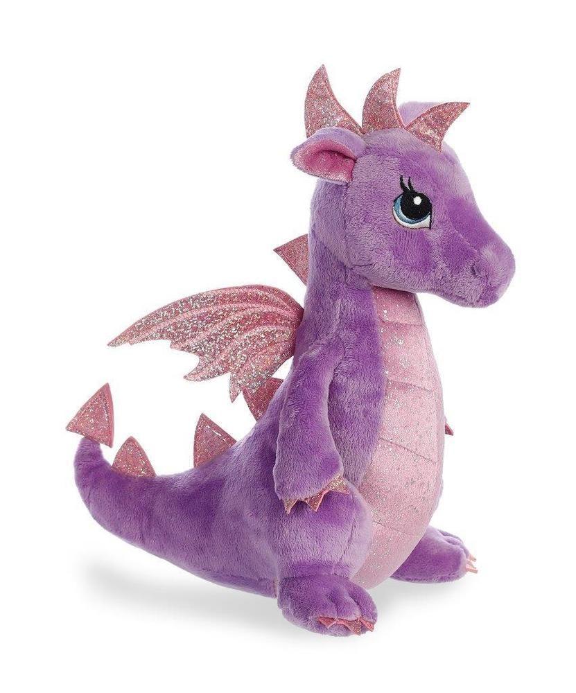 12 Larkspur Purple Dragon Sparkle Tales Aurora Plush Stuffed